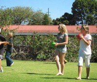 Students play outside at the 2001 Parker Summer Camp (PHOTO COURTESY OF PARKER SCHOOL FOR NHN)