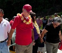 Councilman Pete Hoffmann was among the dignitaries who were present for the grand re-opening of Keokea Beach Park on May 12. (PHOTO BY ANNA PACHECO | SPECIAL TO NHN)