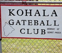 Every Monday, from 12 to 2p.m., members of the Kohala Gateball Club meet to practice at Kamehameha Park. New players are welcome to join. (PHOTO BY ANNA PACHECO|SPECIAL TO NHN)