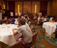 Lifeplan youth participants from around the island gathered in a ballroom at the Four Seasons on July 9, to learn more about gaining mentorship for their future career goals. (PHOTO BY ANNA PACHECO|NORTH HAWAII NEWS)